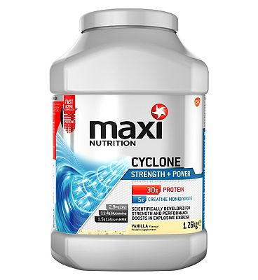 MaxiNutrition Cyclone Strength + Power Vanilla Flavour 1.26kg