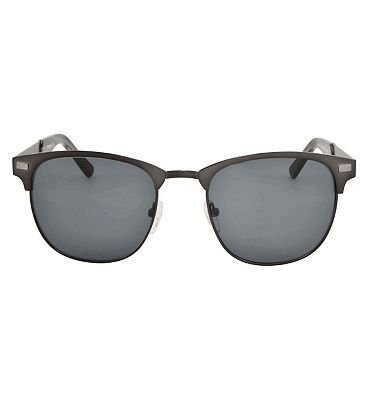 Barbour Brushed Metal Clubmaster Sunglasses