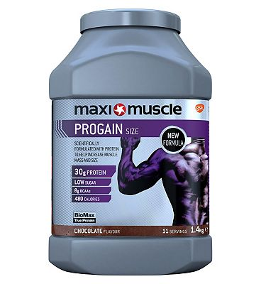 Maximuscle Progain Size Protein Powder - Chocolate (1.4kg)