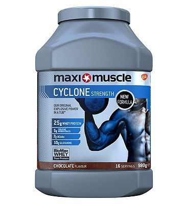 Maximuscle Cyclone Strength Protein Powder - Chocolate (980g)