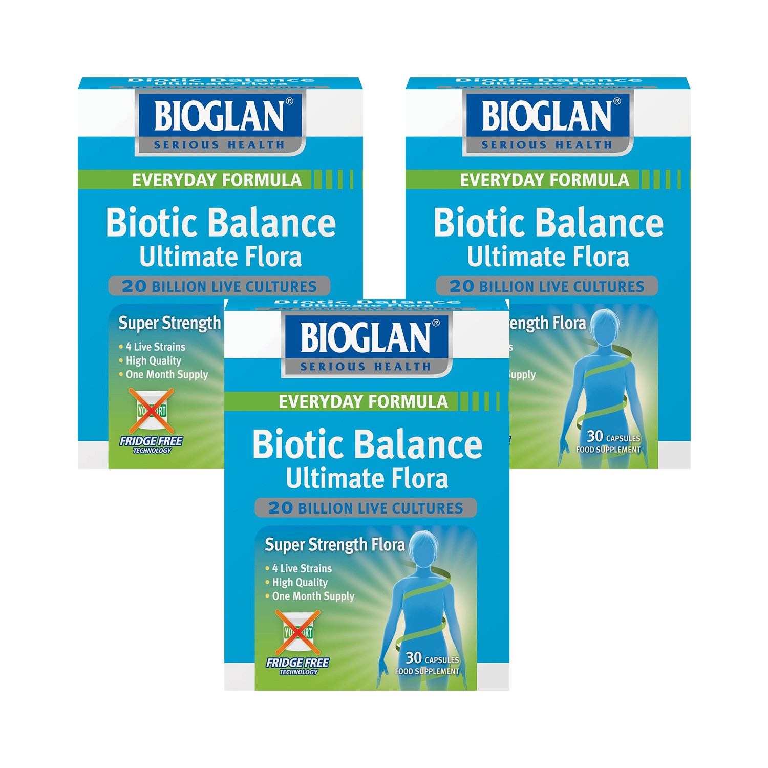 Bioglan Biotic Balance Ultimate Flora 30 Caps- Triple Pack