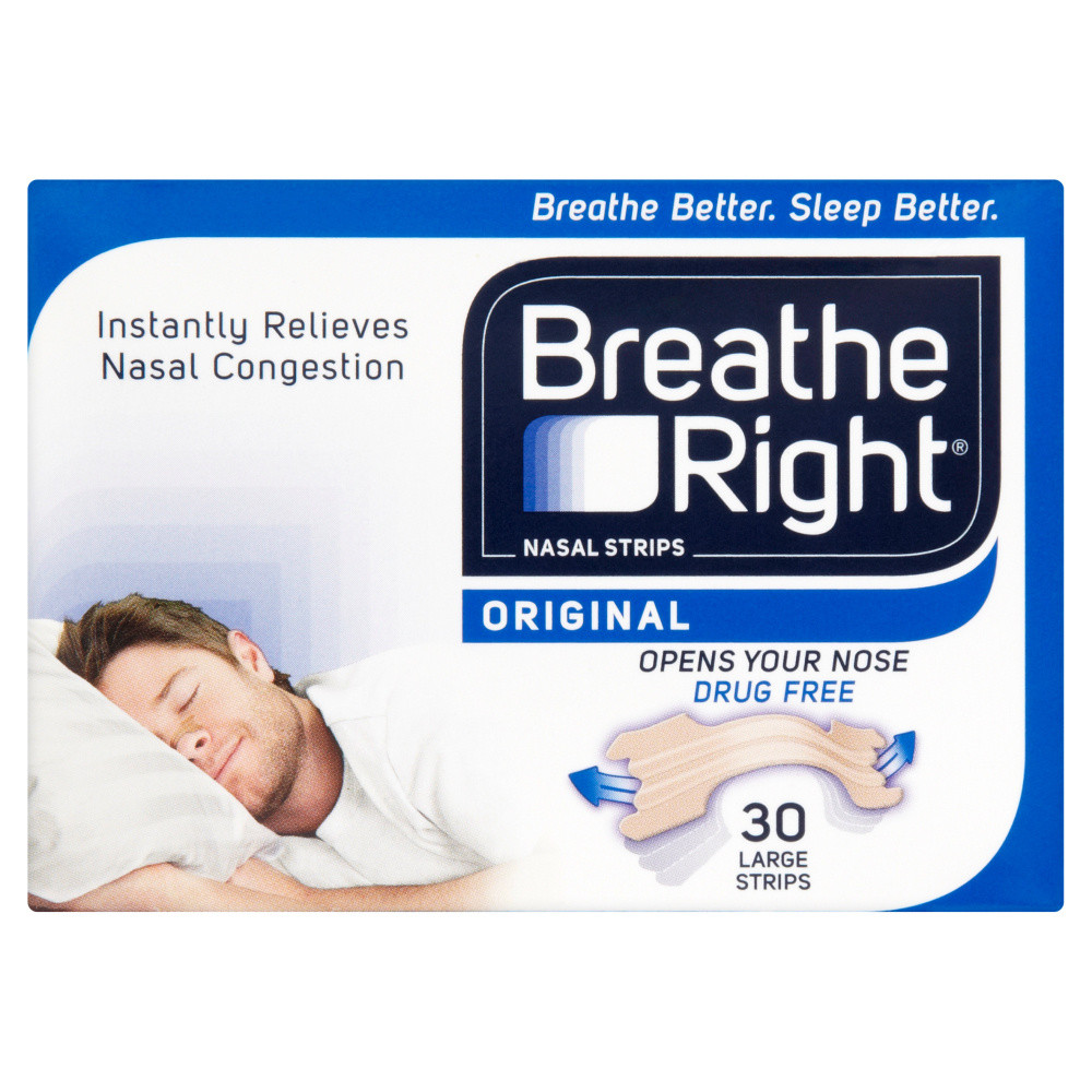 Breathe Right Congestion Relief Nasal Strips Original Large 30s
