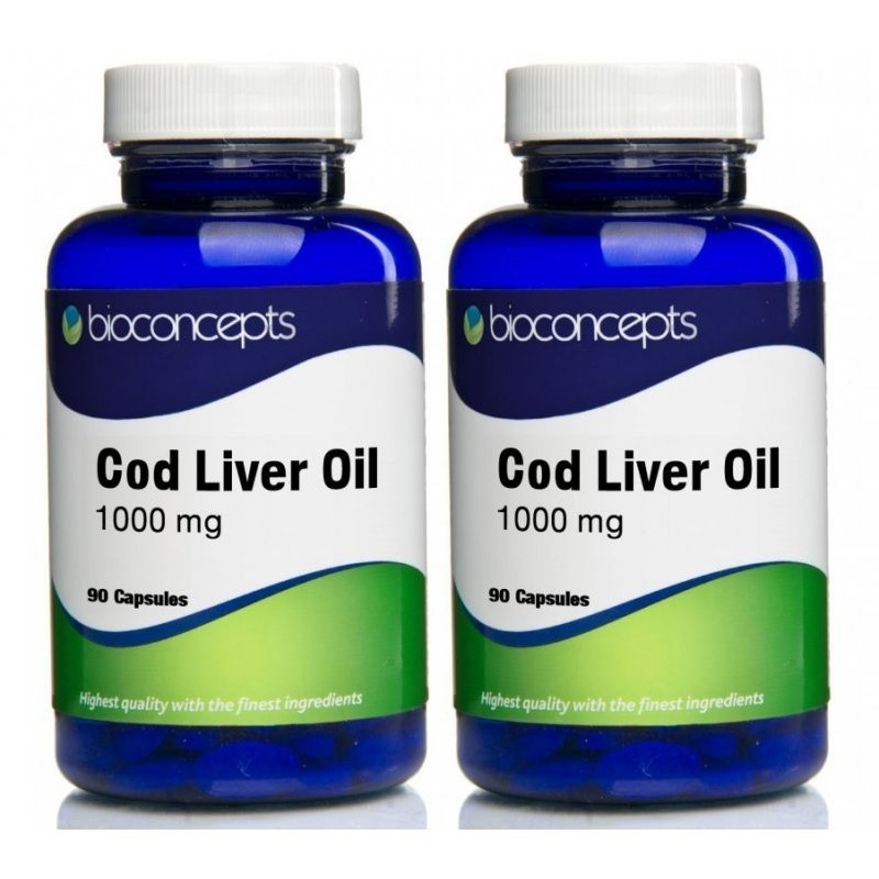 Bioconcepts Cod Liver Oil Soft Gels 1000mg - Twin Pack