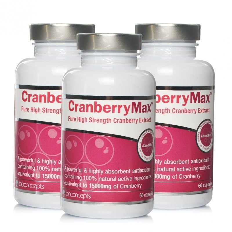 CranberryMax Pure High Strength Cranberry Extract - Triple Pack