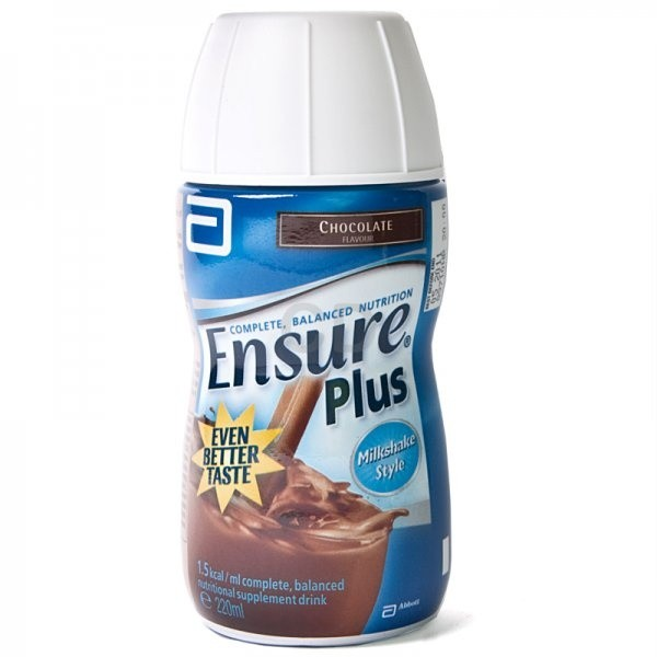 Ensure Plus Chocolate 220ml - 24 Pack