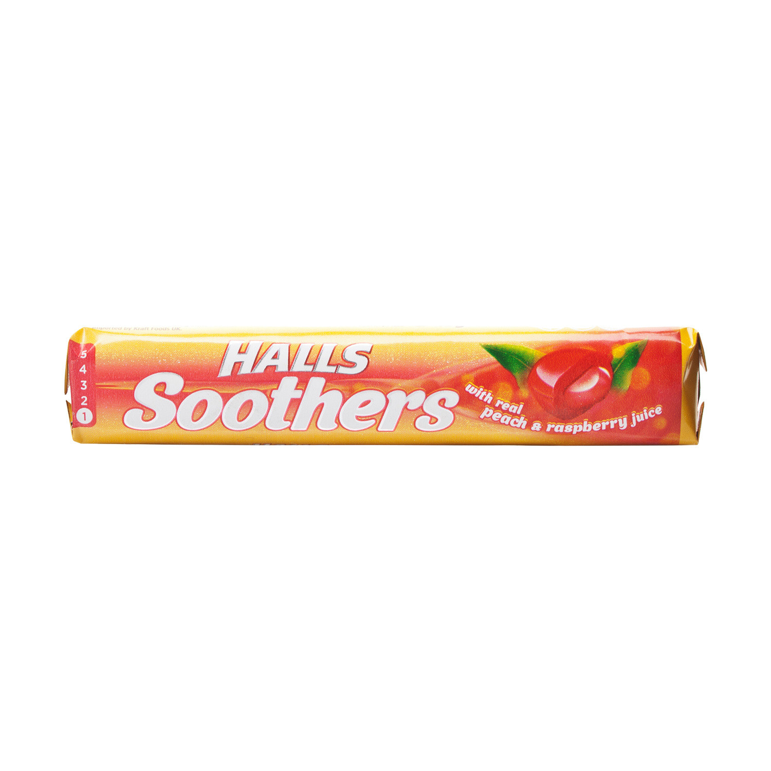 Halls Soothers Peach & Raspberry 10 Lozenges- 24 Pack