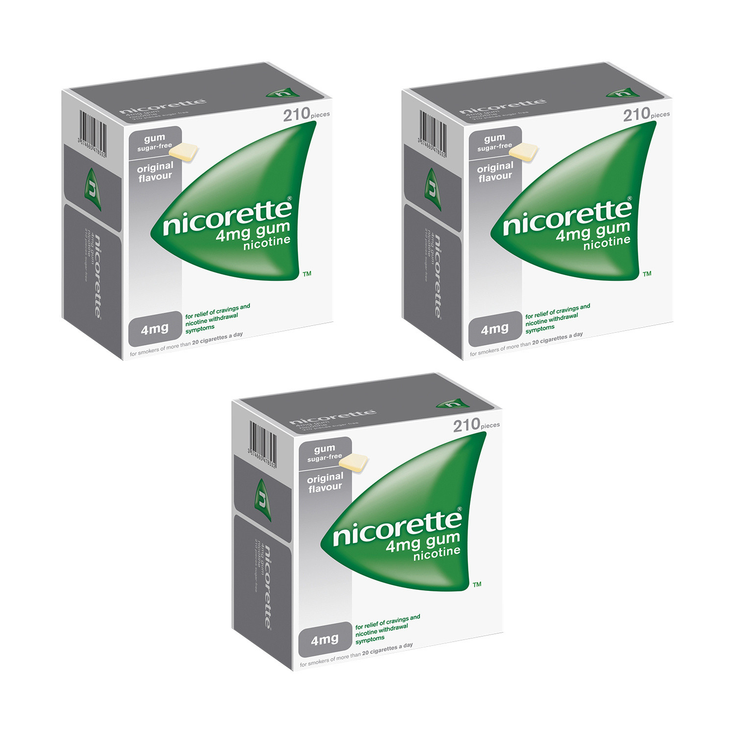 Nicorette 4mg Original Gum - 630 Pieces