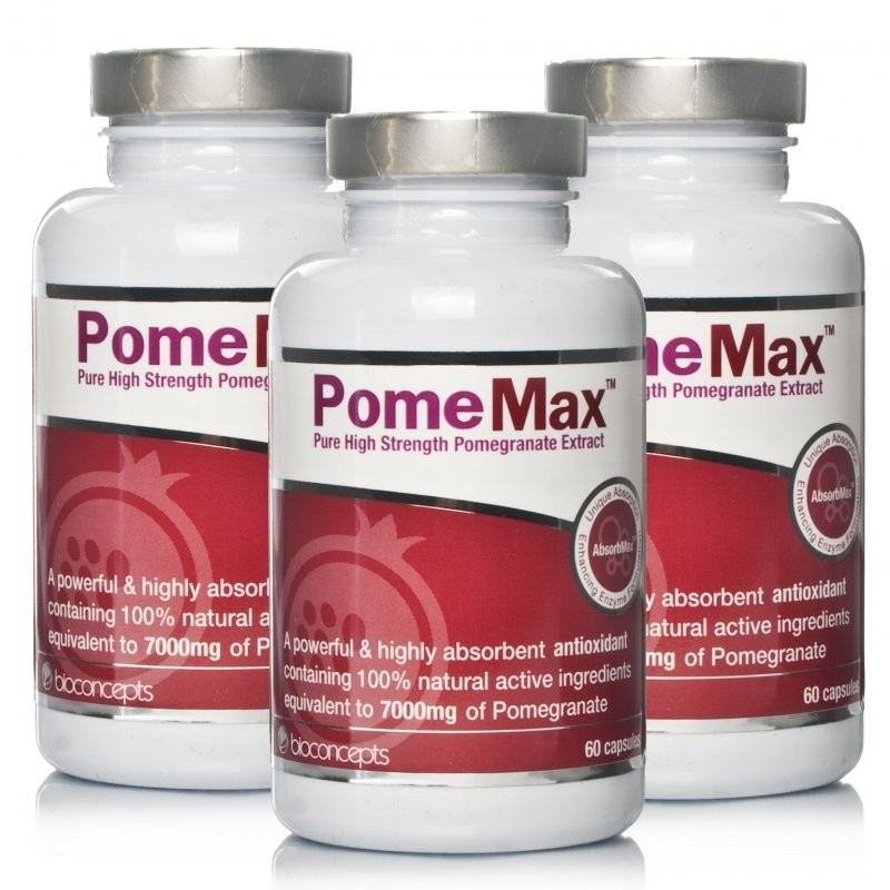 PomeMax Pure High Strength Pomegranate Extract - Triple Pack