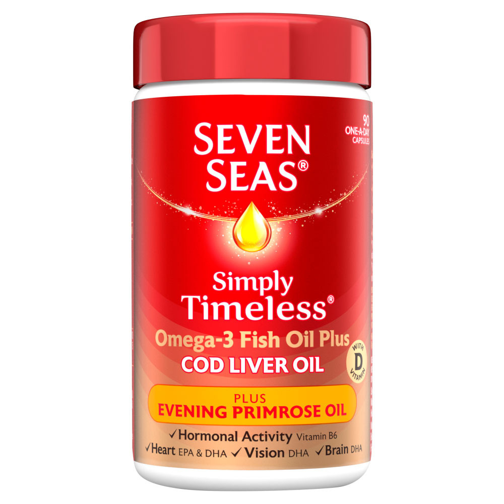 Seven Seas Cod Liver Oil Plus Evening Primrose Oil Capsules 90