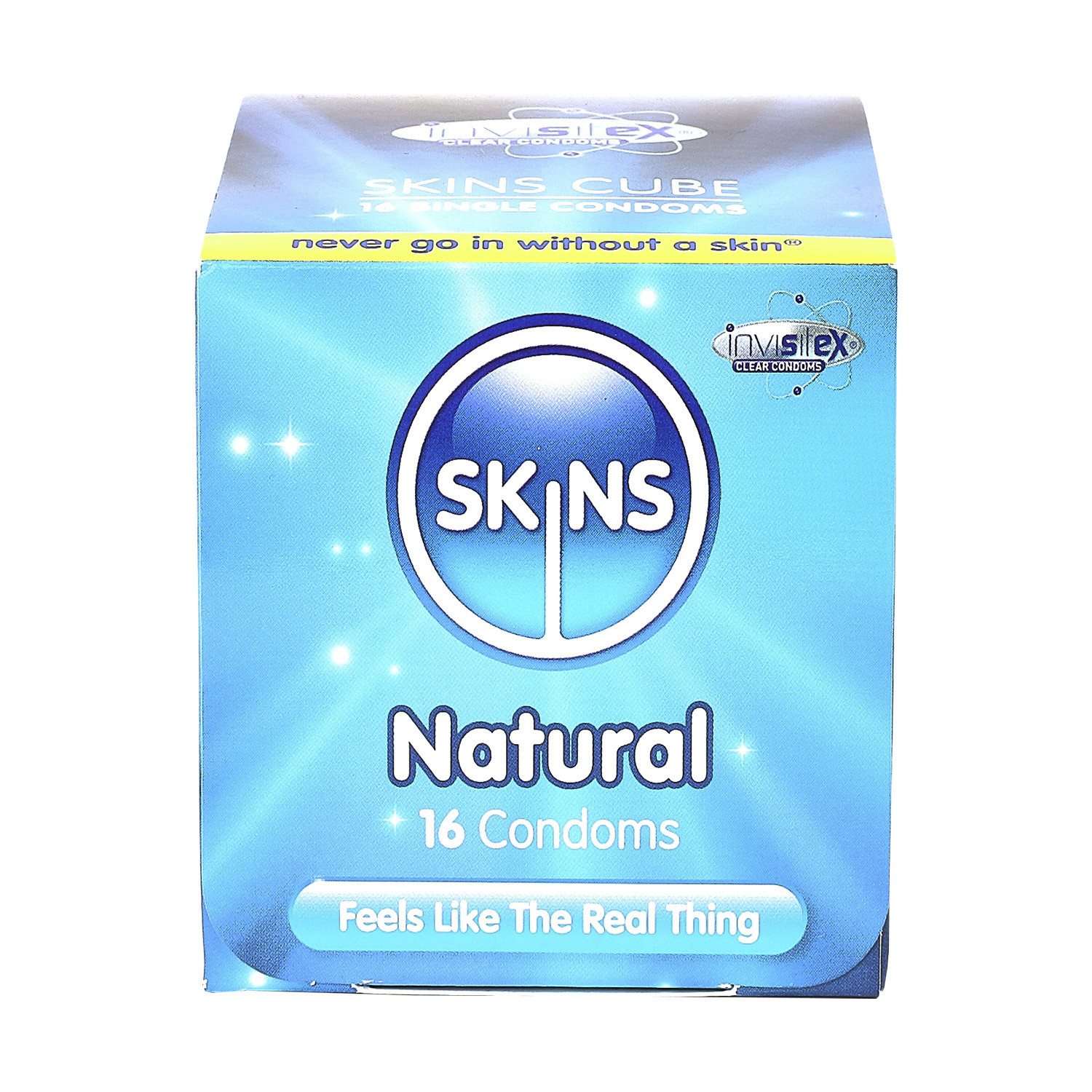 Skins Condoms Natural Cube Pack 16 Condoms