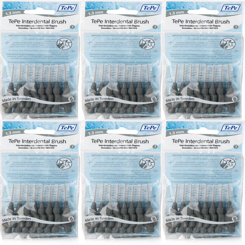 Tepe Intedental Brushes Grey - 6 Pack
