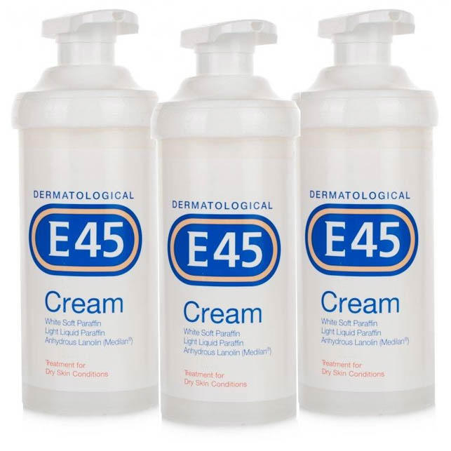 E45 Cream Pump 500g - Triple Pack