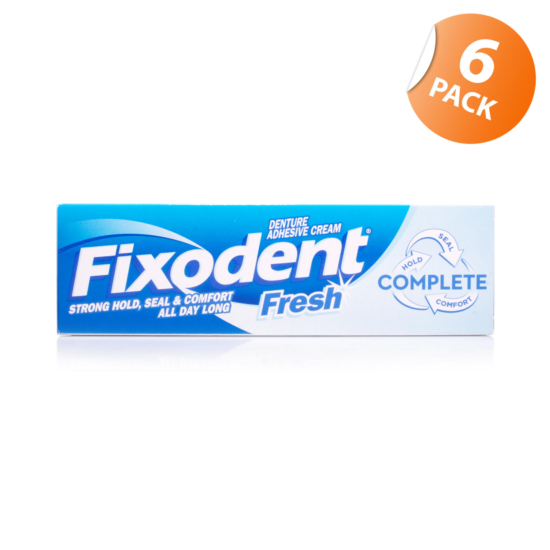 Fixodent Fresh Denture Adhesive Cream - 6 Pack