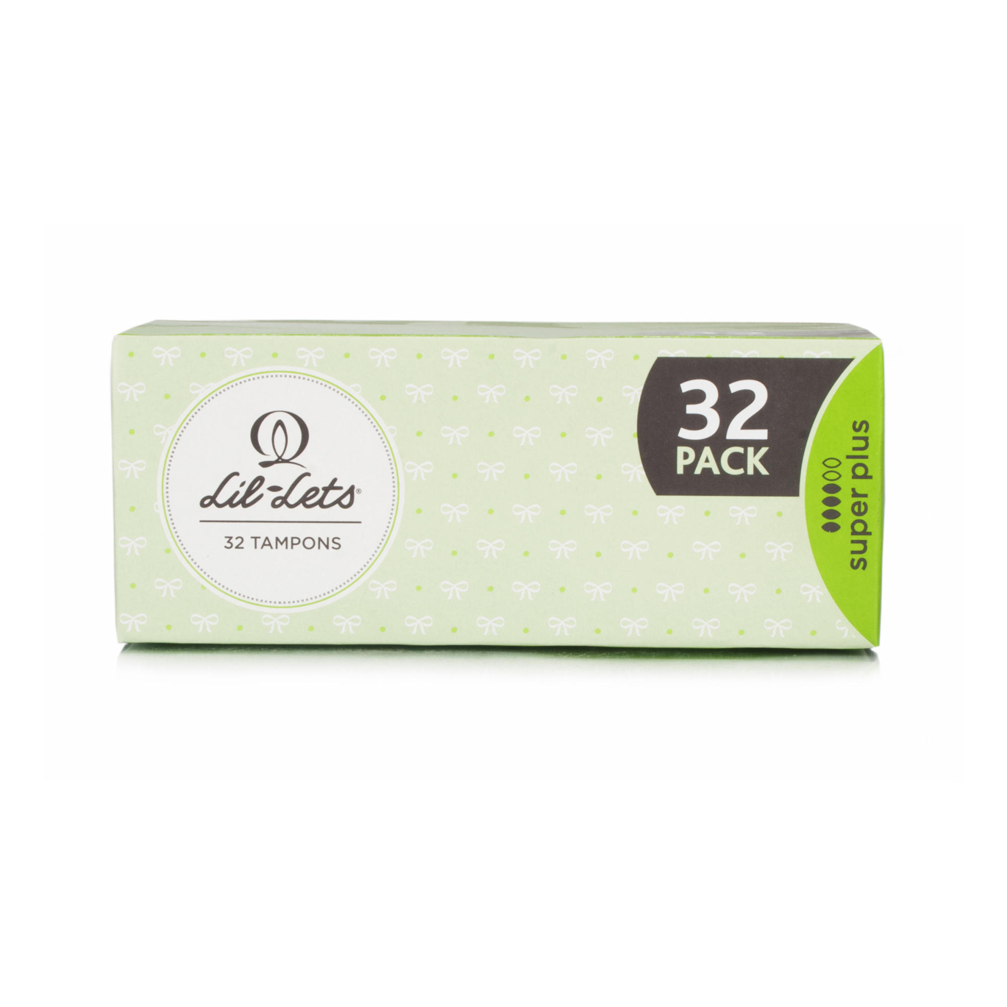 Lil-Lets Non-Applicator Tampons Super Plus 32 Pack
