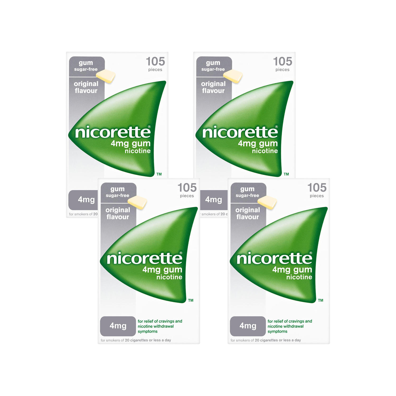 Nicorette 4mg Original Gum - 420 Pieces