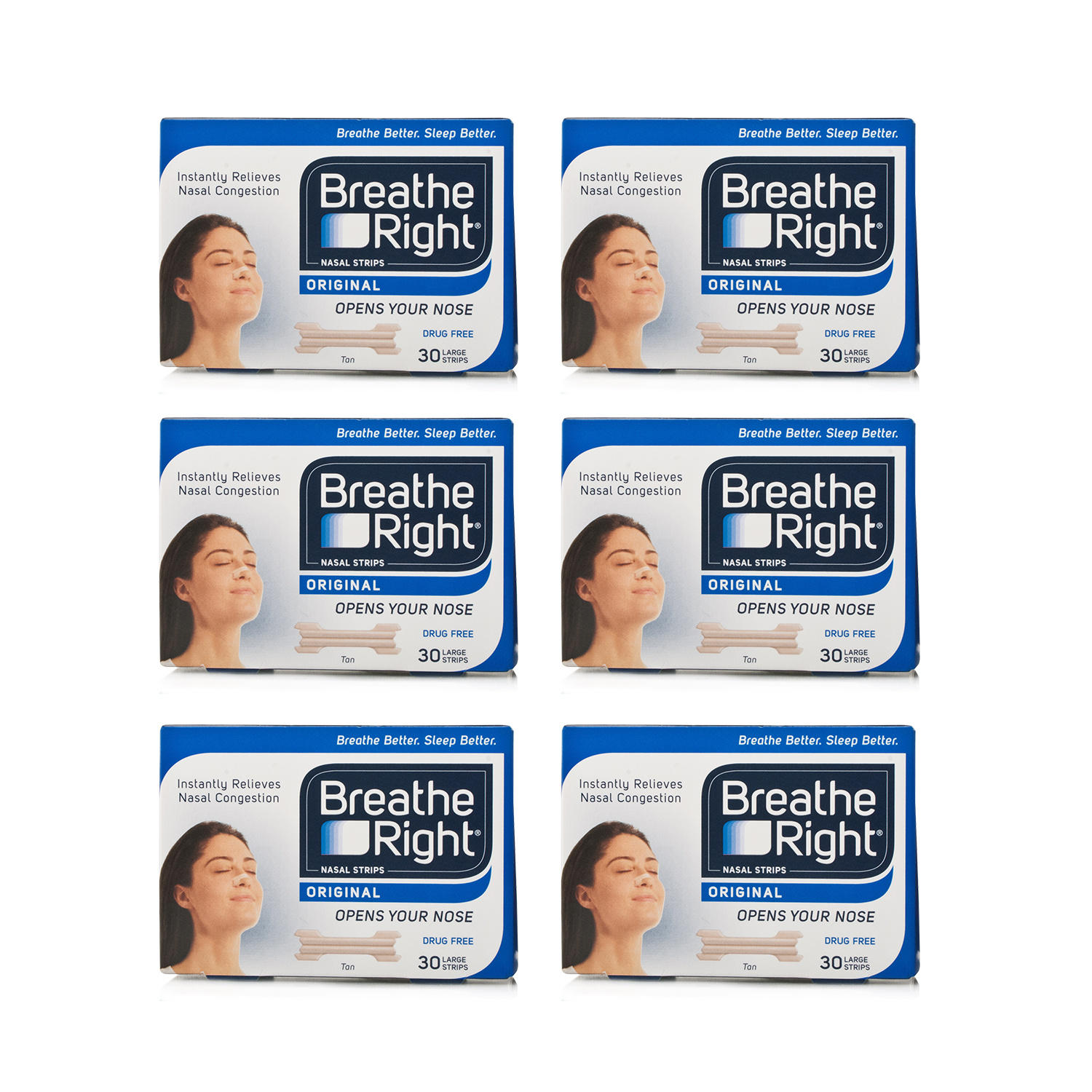 Breathe Right Nasal Strips Tan Large - 180 Strips