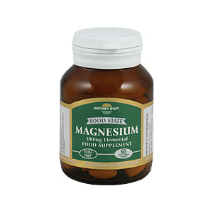 Nature's Own Food State Magnesium 100mg 60 Vegetarian Tabs