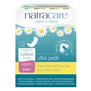 Natracare Organic & Natural Ultra Pads - Super Plus (with wings) 12 pack