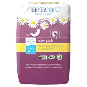 Natracare Organic & Natural Maxi Pads - Super 12s
