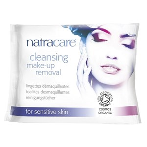 Natracare Organic Cleansing Make-up Removal Wipes for Sensitive Skin 20 Wipes
