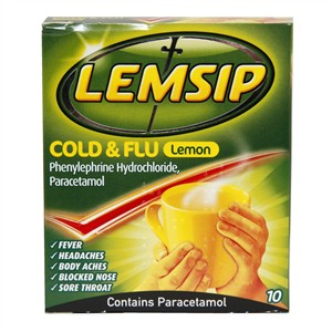 Lemsip Cold & Flu Lemon 10 sachets