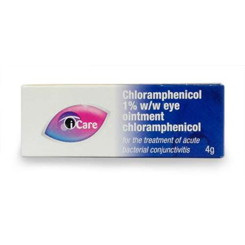 I-Care Chloramphenicol Antibiotic Eye Ointment 1% 4g
