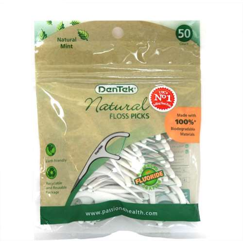 Dentek Natural Floss Picks 50
