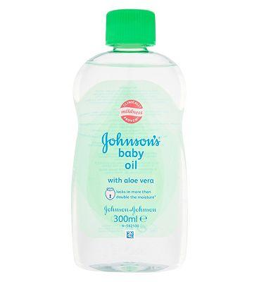 Johnsons Baby Oil Aloe Vera - 300ml