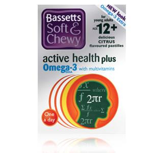 Bassett's Active Health Plus Omega 3 with Multivitamins Citrus Flavour 30 pastilles