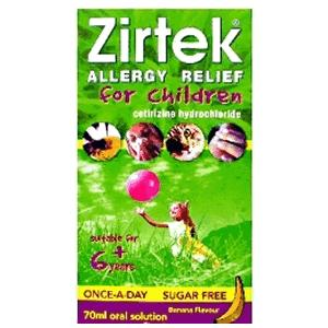 Zirtek Allergy Relief For Children 70ml