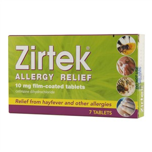 Zirtek Allergy Relief Tablets 7 tablets