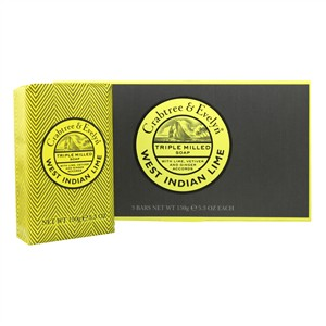 Crabtree & Evelyn West Indian Lime Triple Milled Soap 3x150g