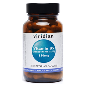 Viridian Vitamin B5 (Pantothenic Acid) 350mg 30 Caps