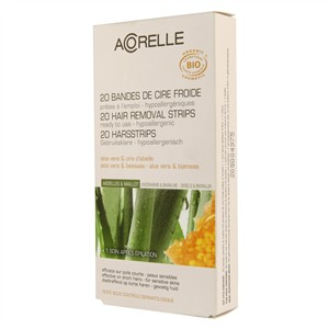 Acorelle Skin Care Underarms & Bikini Ready to Use Strips - Aloe Vera & Beeswax 20 Strips