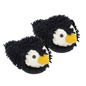 Aroma Home Fun For Feet Fuzzy Slippers - Penguin