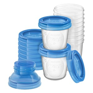 Avent Breast Milk Storage cups 0 months+ 10 Cups