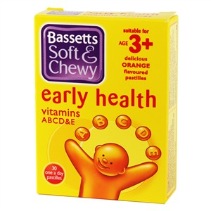 Bassett's Early Health ABCD&E Orange 30 pastilles
