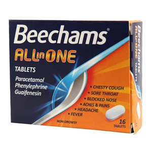 Beechams All - In - One Tablets 16 tablets