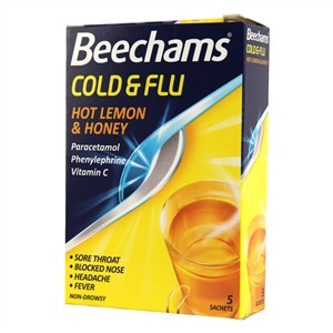 Beechams Cold & Flu Hot Lemon & Honey Pack of 10