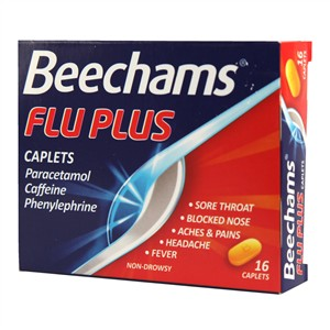 Beechams Flu Plus Caplets 16 caplets