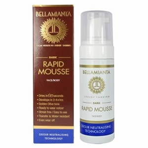 Bellamianta Face & Body Rapid Mousse - Dark 150ml