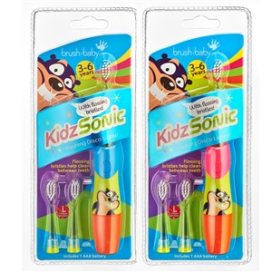 Brush-Baby KidzSonic Electric Toothbrush (3-6 Years) Mixed Colours Blue