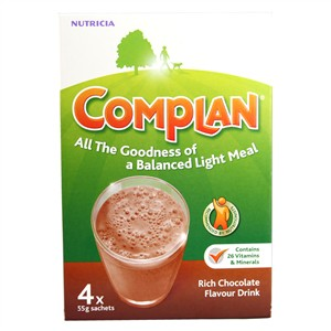 Complan Nutricia Rich Chocolate Flavour Drink 4x55g sachets