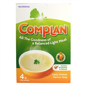 Complan Nutricia Tasty Chicken Flavour Soup 4 x 55g sachets