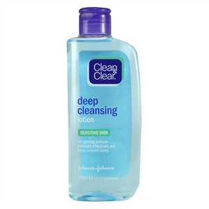Clean & Clear Deep Cleansing Lotion - Sensitive Skin 200ml