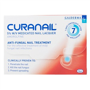 Curanail 5% Nail Lacquer Anti-Fungal Nail Treatment 3ml