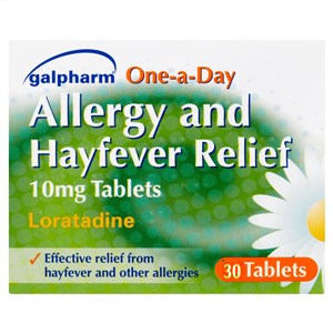Galpharm Allergy and Hayfever Relief Loratadine 10mg Tablets 30 Tablets