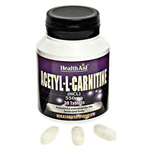 HealthAid Acetyl-L-Carnitine 550mg Tablets 30 tabs