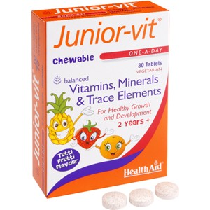 HealthAid Junior-vit - Chewable (Tutti-fruity Flavour) (Age 2 plus) 30 tablets