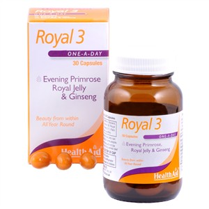 HealthAid Royal +3 (Royal Jelly + E.P.O. + Korean Ginseng) 30 Caps